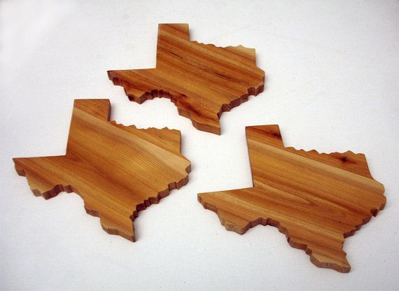 would be cool if it were GA...Solid wood Texas drink coasters (set of 4) via Etsy