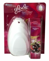 Glade Touch N Fresh Microspray Air Freshener Blackberry Frost Glade Touch n Fresh holder and blackberry frost cartridge.