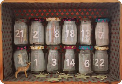 advent - brilliant idea, every day an object is revealed that represents an activity or Christmas experience.