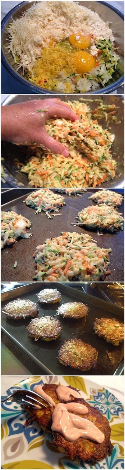 Simple Baked Zucchini-Carrot Fritters