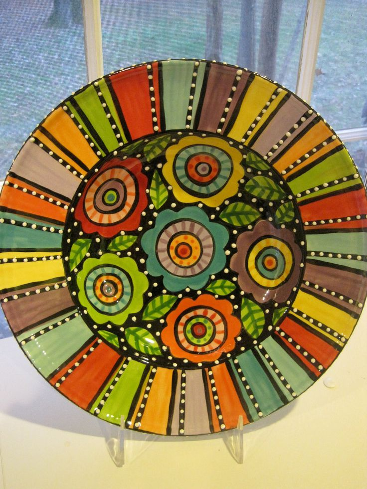 Large Ceramic bowl & plates hand made to coordinate in the kitchen designed by my 'chillins'