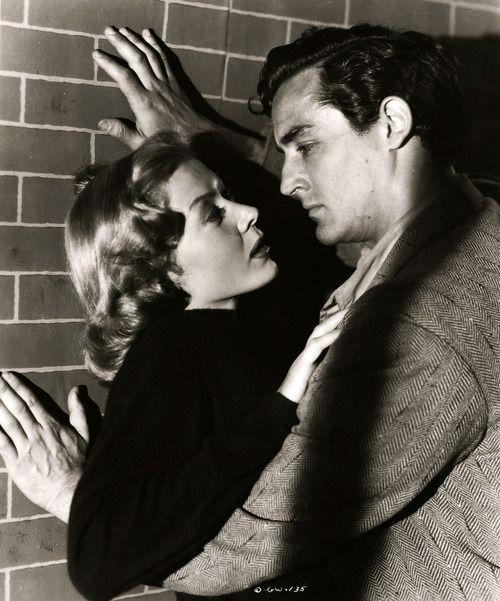 Gloria Grahame, Vittorio Gassman, The Glass Wall, vintage, 1953.
