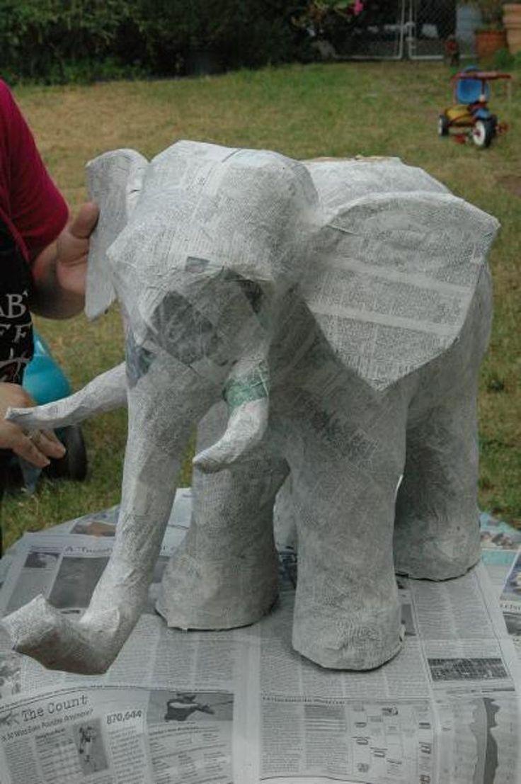 Paper Mache Elephant | Craftsy