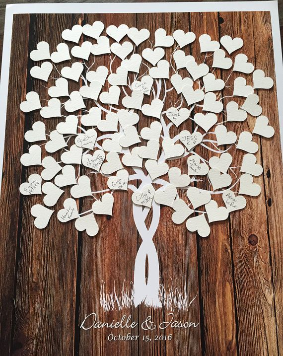 Guestbook Tree Guest Book Weeding Tree Wood Tree by fancyprints