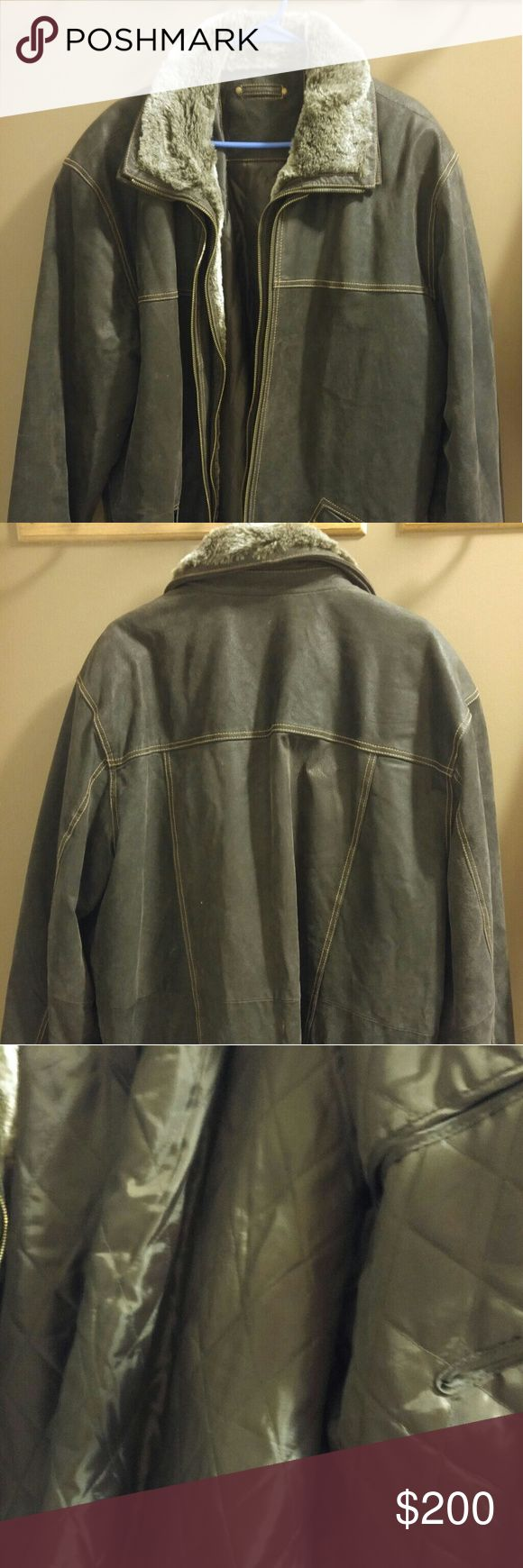 Men's heavey winter coat Gorgeous men's winter coat With removable liner. Zipper in or out Good cond no rips tears or stains that I have seen. Only worn few times been in storage  Open to offers Jackets & Coats