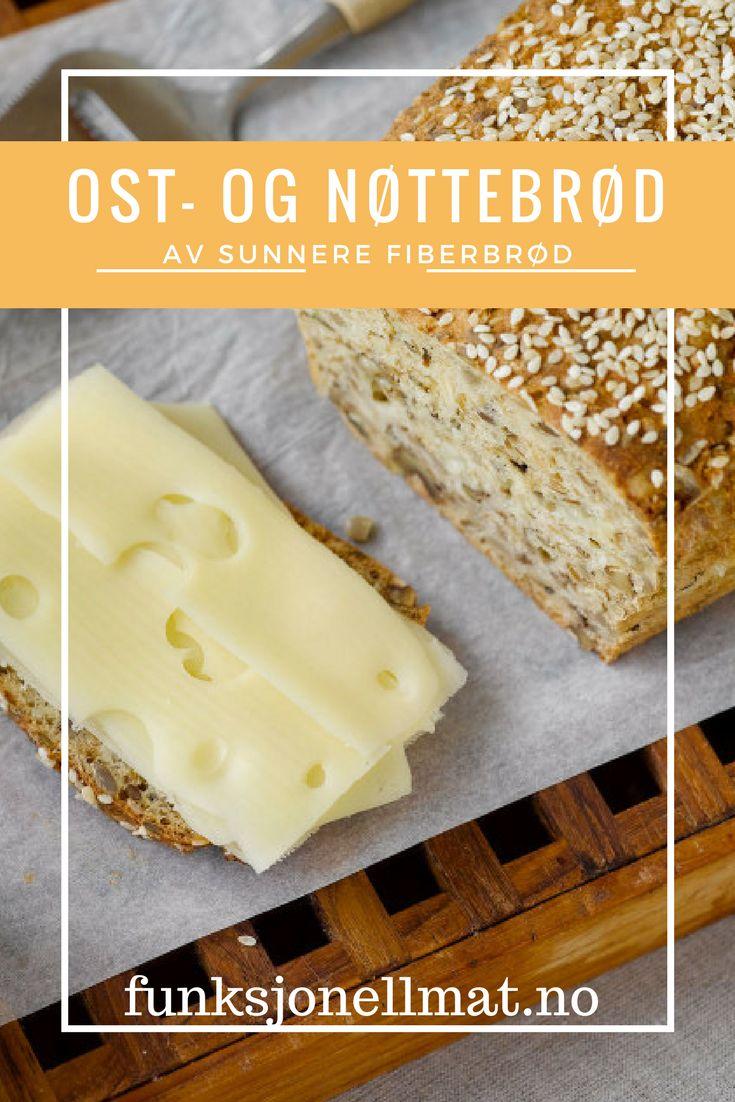 Ost- og nøttebrød - Funksjonell Mat | Brød opskrift | Oppskrift brød | Eltefritt brød | Godt brød | Grovt brød | Glutenfri brød | Nyttig mat | Sunne oppskrifter