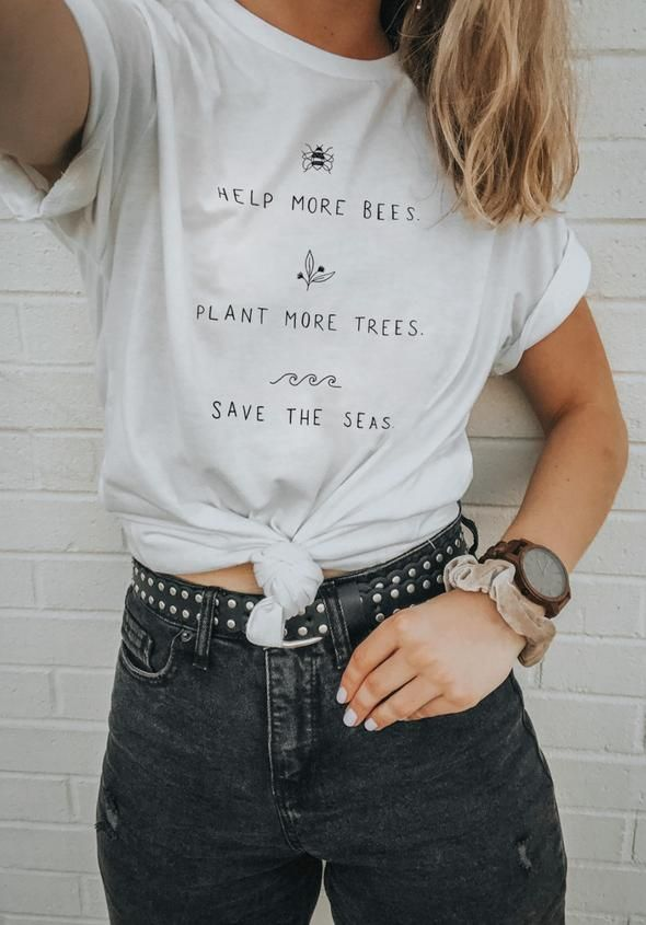 40c108592 Help More Bees, Plant More Trees, Clean the Seas. - Eco Tee – Wholesome  Culture