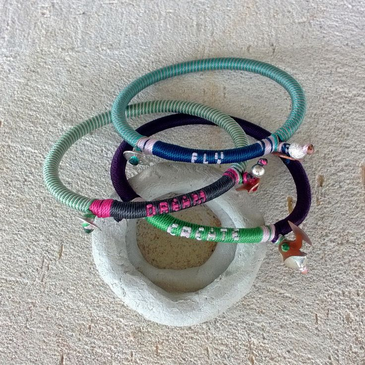 """Winter 2014 Knitted Slogan Collection Lucky Bird """"fly-dream-create"""" bracelet"""
