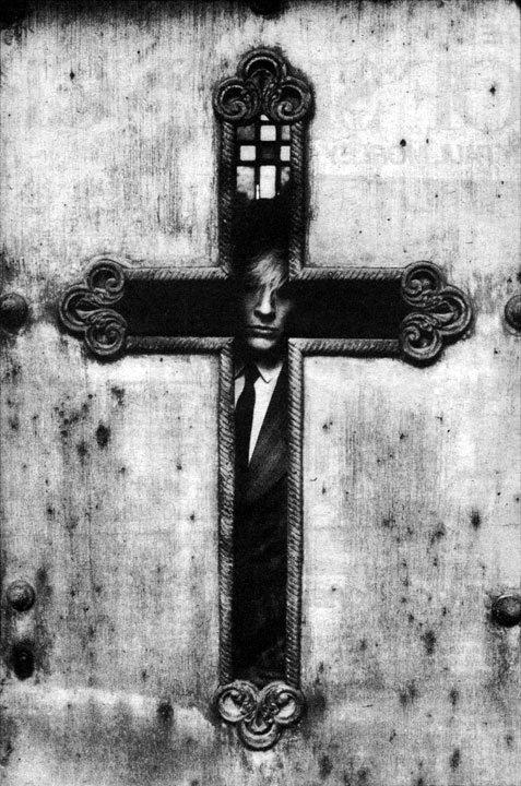 cross | crucifix | reflection | religion | sacrilege | David Sylvian by Anton Corbijn | www.republicofyou.com.au