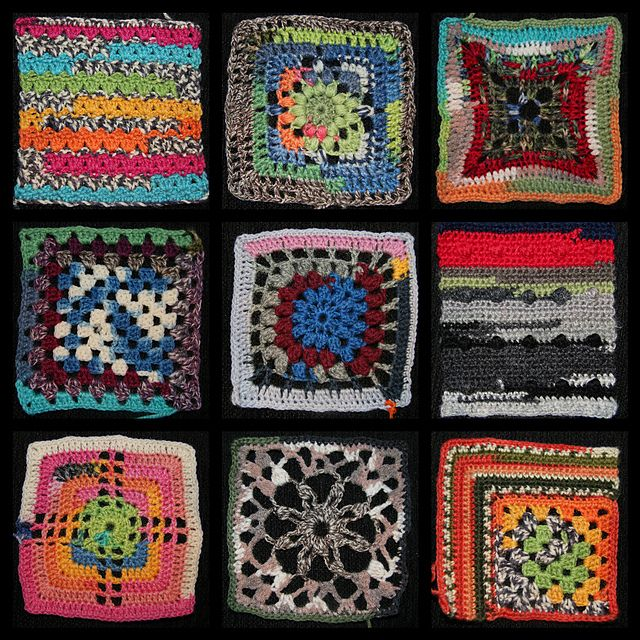 Knitted Quilt Block Patterns : Best images about mycrochet crazy quilt afghans on