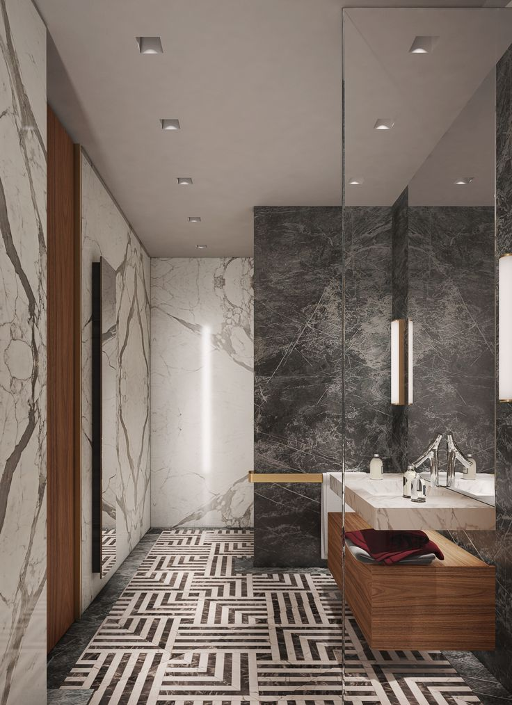 DOOI STUDIO /Guest bath room Interior view,