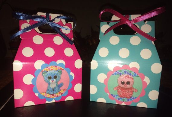 Beanie Boo Party Bags, Snacks Bags,Candy Bags,Goodie Bags,Party bags,Party Favor Bags,Loot Bags (set of 10)