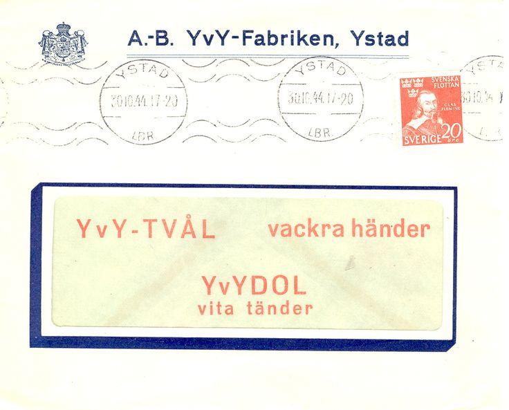 Yvy-fabriken, Ystad reklamkuvert