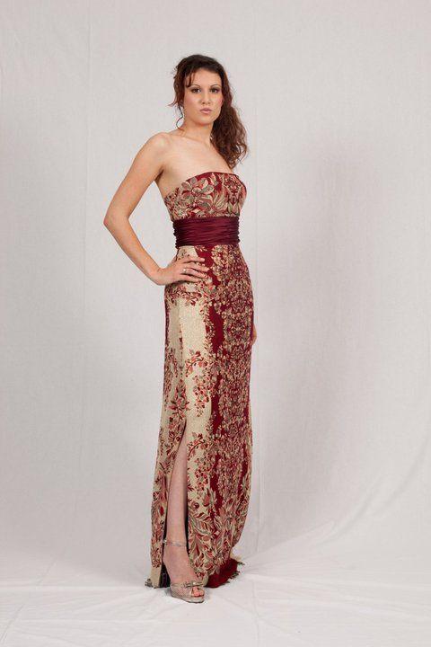 Strapless oriental style gown http://www.arcarocouture.com.au/