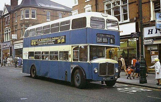 Southend Transport bus, High Street, Mar 1970