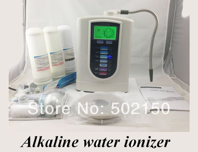 (197.80$)  Buy here  - one alkaline water ionizer model WTH-803 and one nano water flask