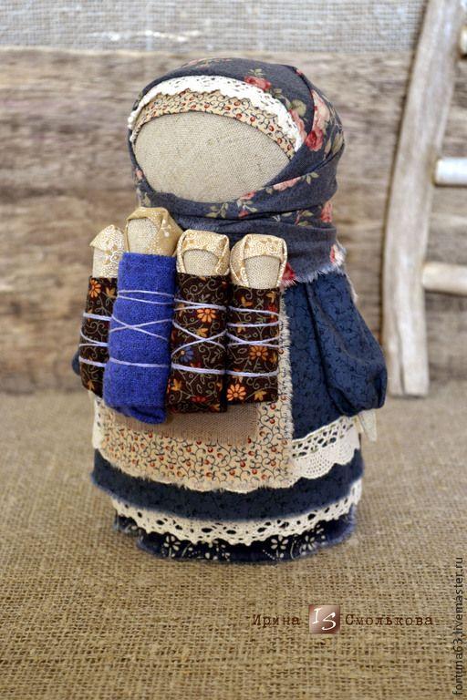 народная кукла-оберег ПЛОДОРОДИЕ - синий,народная кукла,оберег,народный стиль