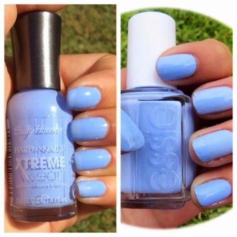 Blue dress nail polish that detects