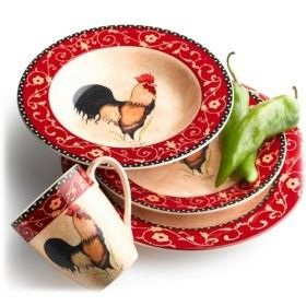 Pinzon Rooster Dinnerware. My Everyday Dishes.