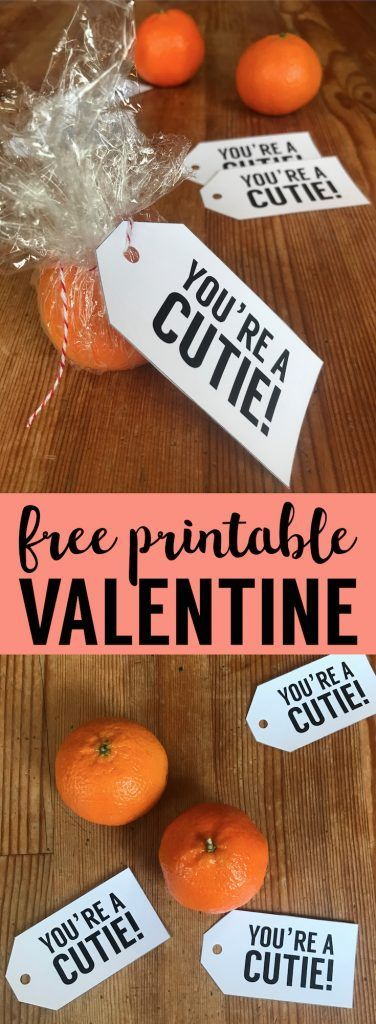 Free Valentine Cards Printable Cutie Tag. DIY Valentine card. Make your own valentines for kids, teenagers or adult valentine cards. #papertraildesign #valentineprintables #printablevalentines #cuties