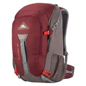 High Sierra Pathway 40L Internal Frame Backpack - Cranberry/Slate/Redrock