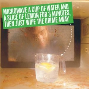 How To Clean The Microwave Using Lemon