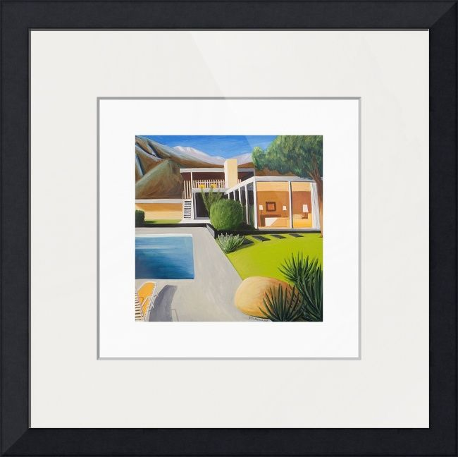 """""""Mid+Century+Modern+Richard+Neutra+Kaufmann+House""""+by+Michael+Pfleghaar,+Grand+Rapids,+MI+//+Contemporary+architectural+landscape+painting+of+the+most+famous+Palm+Springs,+California+home.+This+is+one+of+a+series+of+oil+on+canvas+paintings+based+on+mid-century+modern+architecture.+//+Imagekind.com+--+Buy+stunning+fine+art+prints,+framed+prints+and+canvas+prints+directly+from+independent+working+artists+and+photographers."""