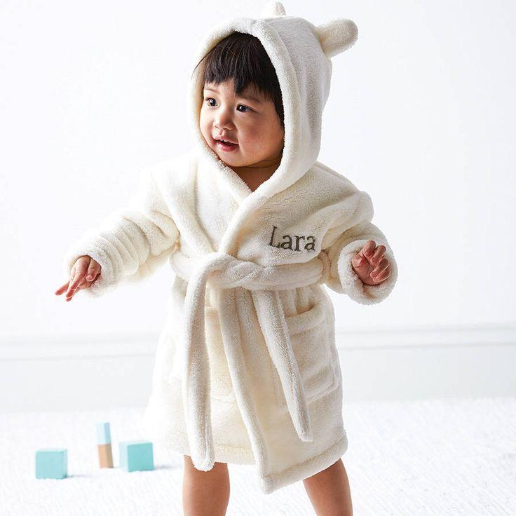 Personalised Hooded Fleece Dressing Gown