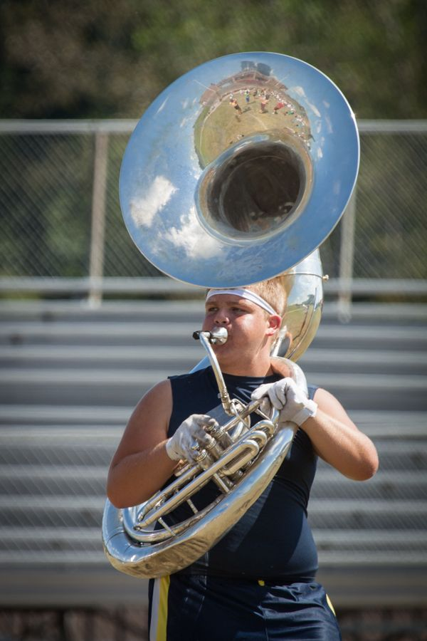 One of my favorite tuba player pictures. The entire ...