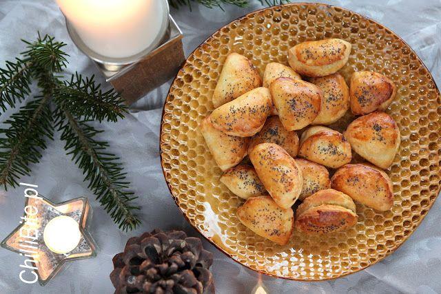 ChilliBite.pl - motywuje do gotowania!: Wigilijne półotwarte pieczone pierogi z grochem i kapustą