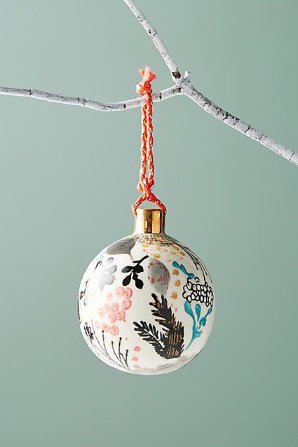 Anthropologie Botanical Ball Ornament #ad #AnthroFave #AnthroRegistry Anthropologie