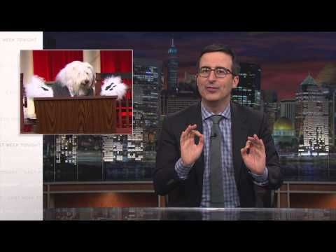 TV coverage of the Supreme Court is hampered by the longstanding ban on cameras inside the highest court in the land. News shows have been forced to make do with sometimes-shoddy artists' renderings of the Justices, and John Oliver's sick of it. So here's his alternative proposal: Let's just use this footage of dogs in robes instead.