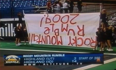 Six cheerleaders and no one to notice the mistake.