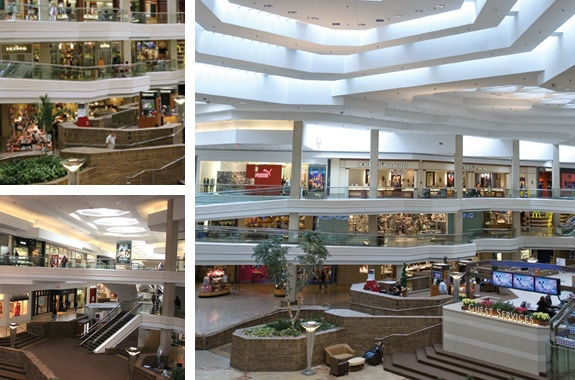 The Woodfield Mall, Schaumburg, Illinois.   9th largest mall in America, with over 300 stores.