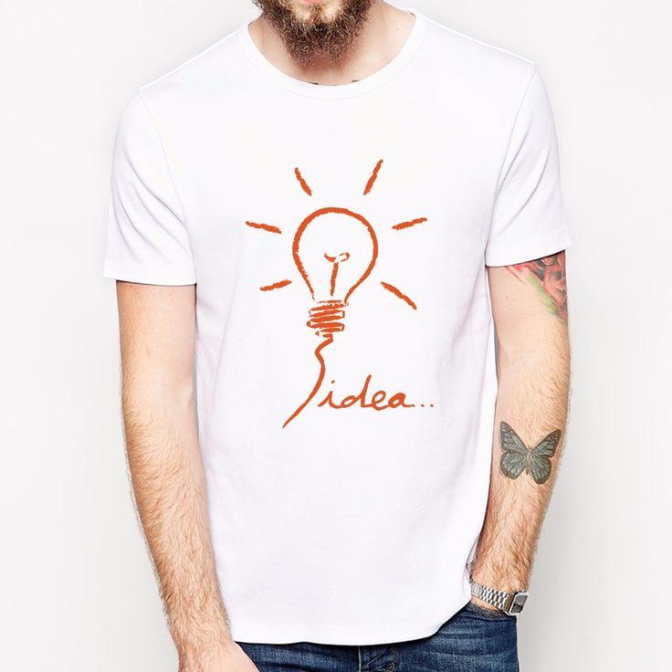 2017 de Moda de Verano T shirt Men idea Diseño Impreso Camisetas de Algodón Inconformista del Cool Tops de Manga Corta Camisetas Camisa Masculina en Camisetas de Ropa y Accesorios en AliExpress.com | Alibaba Group