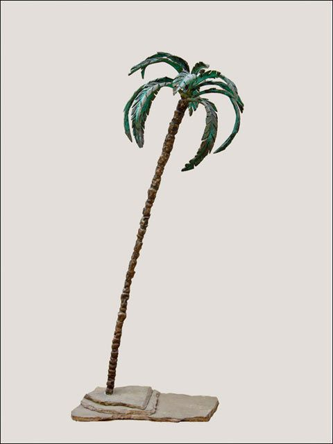 Palmera de bronce 3 (altura 114cm).   Esculturas de bronce - figuras bronce - figuras decoracion salon - bronce decoracion - #bronzeder