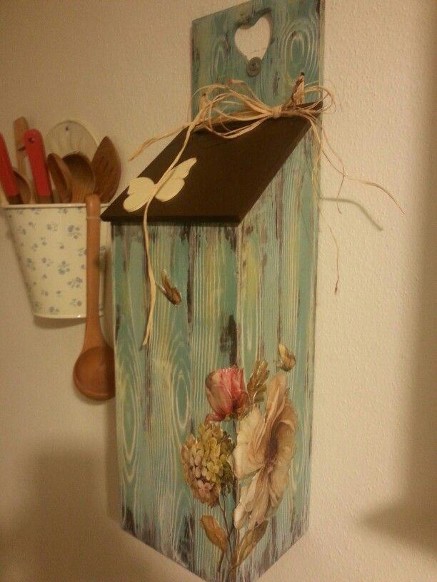 Wooden bag -ahşap poşetlik