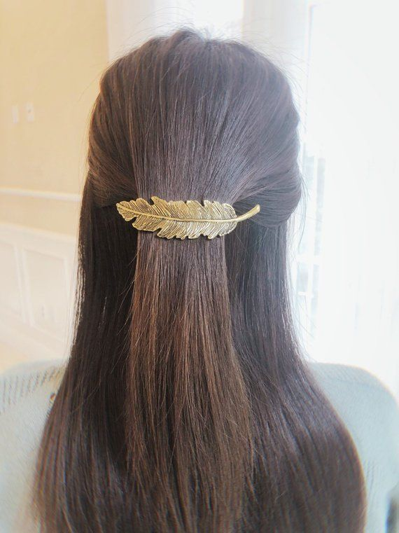 #accessory #Barrette #clamp #claw-clip hair styles 2019 #Clip #Feather