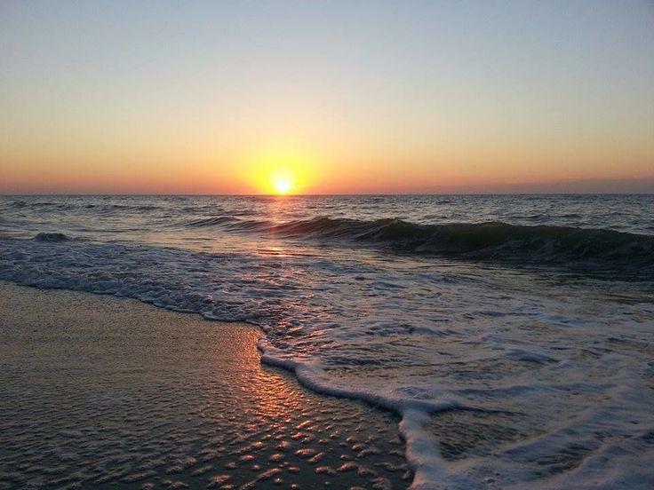 Закат на атлантическом океане