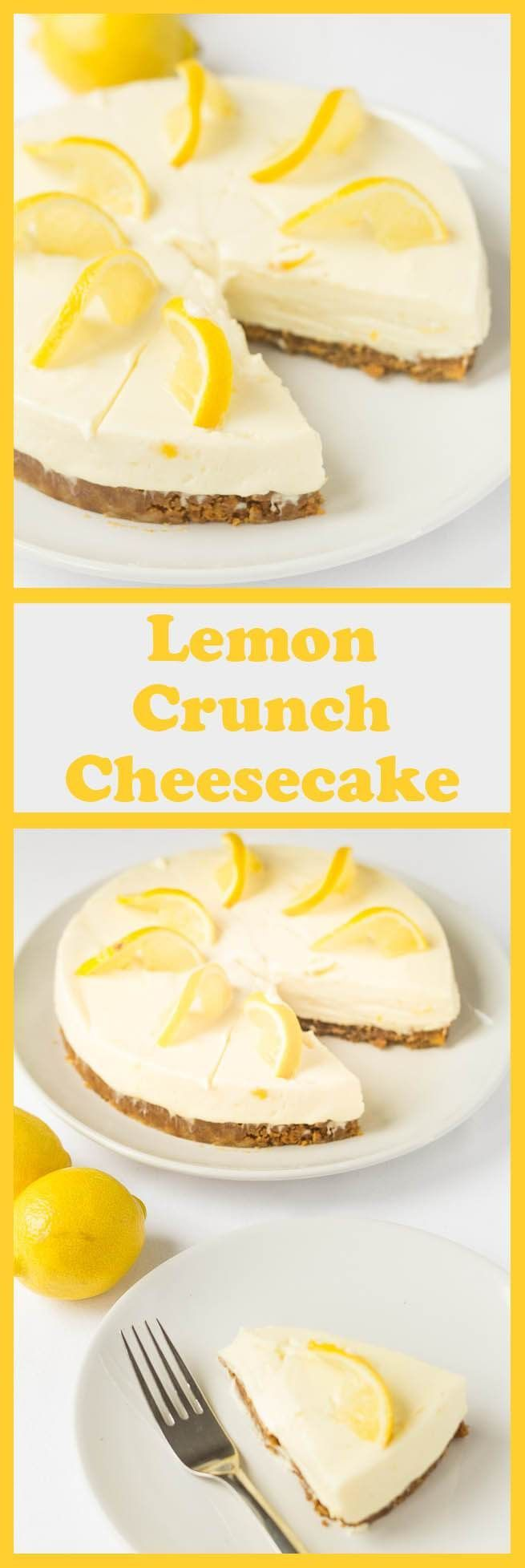 Lemon crunch cheesecake is a delicious no bake cheesecake recipe. It�s simple, low cost and easy to make. With an amazing zingy refreshing lemon flavour all it requires is a bit of time to set in your fridge.