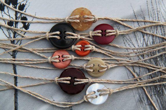 button bracelets - hemp