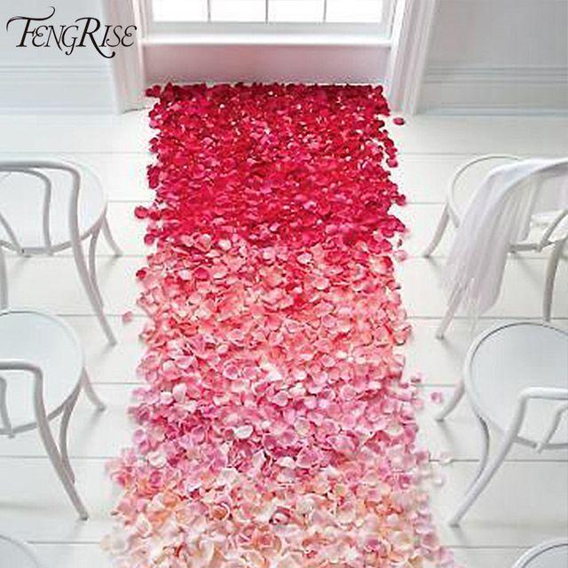 Acontecimientos de la boda Decoración 500 unids Seda Rose Petals Tabla Flores Artificiales Celebraciones de Fiesta de Compromiso