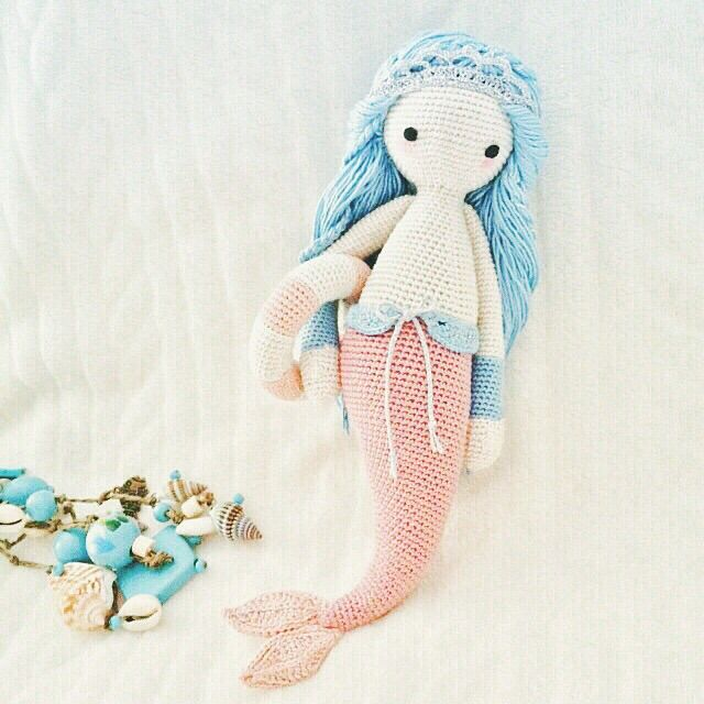 MICI the mermaid made by Sade / crochet pattern by lalylala