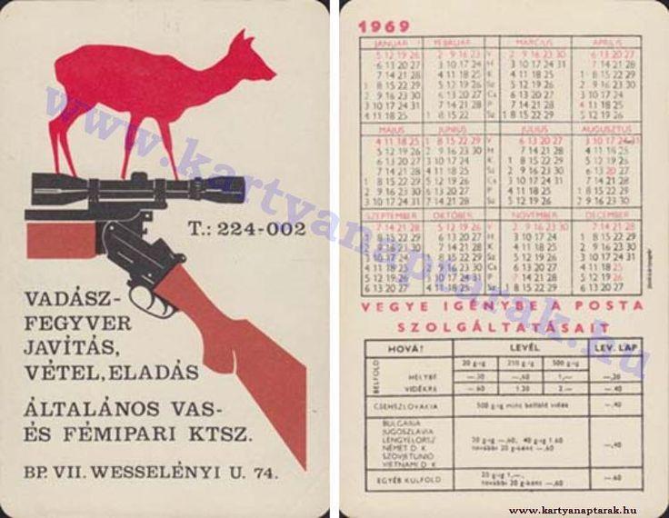 1969 - 1969_0314 - Régi magyar kártyanaptárak