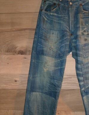 Antique Oak Backdrop for Vintage Blue Jeans: Denim Denim, But Denim