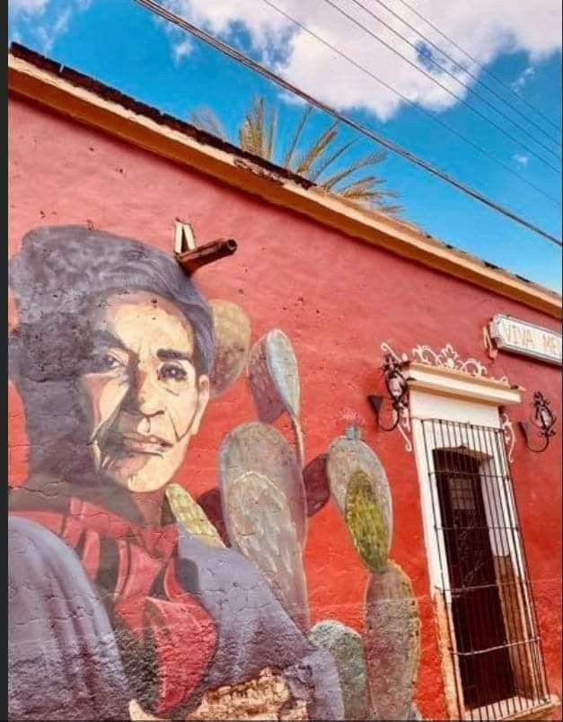 Miren Nada Más Hasta Donde Llega La Inspiración De Chavela Este Lugar Bellísimo Bajo Un Cielo Azul Frida Es El Restaurante Bar Chavela En Ca Art Painting
