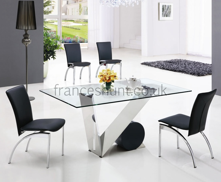 Gallery. Monaco Oval White High Gloss Dining Table with 6 Perth ...