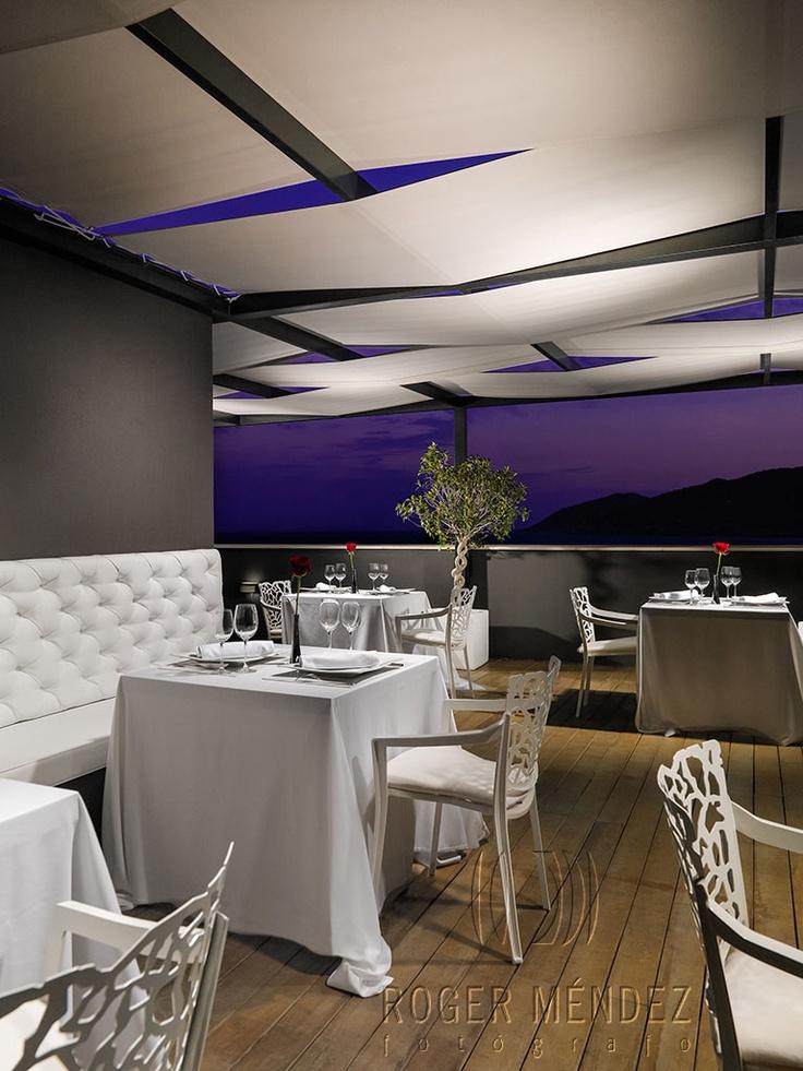 Air Ibiza Restaurant at sunset at Aguas de Ibiza, so cute!