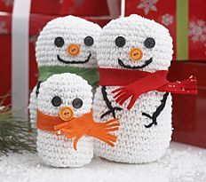 38 Snowman Decorations and Crochet Snowflakes | AllFreeCrochet.com