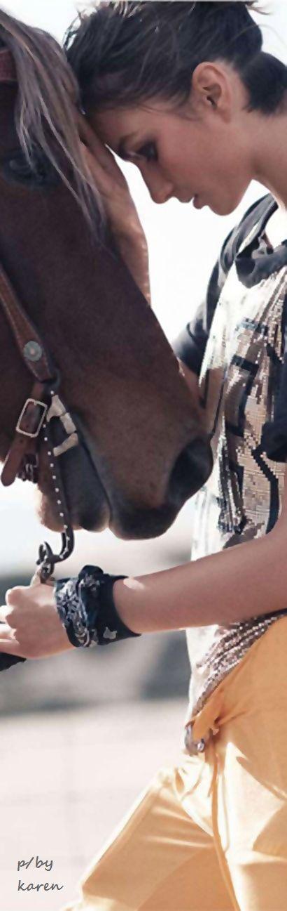 Diamond Cowgirl ~ David Sims Photographer for Vogue. Andreea Diaconu Model.